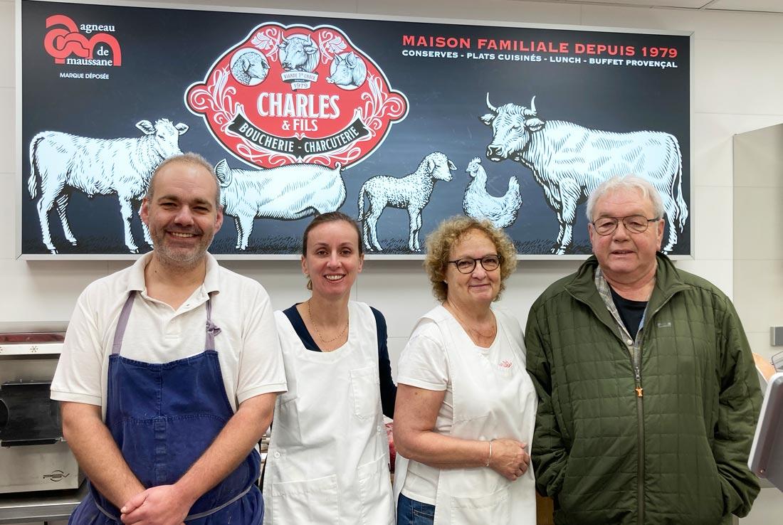 Famille de la boucherie charles et fils